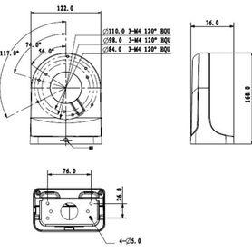 brazo meriva technology mva205bw negro 2286cm largo ip66 exterior no incluye housing