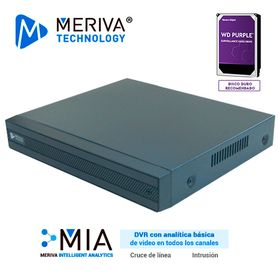 dvr h265 12 canales 5mp hd pentahibrido meriva technology msdv5108  8ch bnc  4ch ip  salida bncvgahdmi simultanea  p2pcloud  so