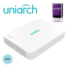 nvr 8ch8 poe nvr108lsp8 uniarch by unv capacidad 1 disco duro hasta 10tb total 1 salida hdmi 1080p y 1 salida vga simultaneas