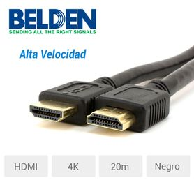 cable video hdmi belden hde020mb alta velocidad 4k 20 mtr negr