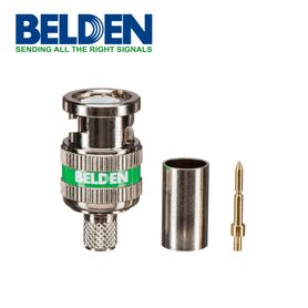 conector bnc belden 1694abhd3 para sdihd en coaxial rg6 tipo de compresion 3 piezas tradicional