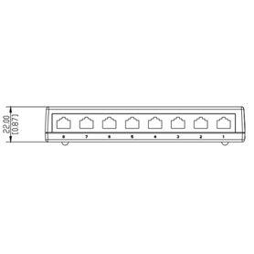 conector modular jack rj45 cat6 revconnect belden rv6mjkurds1 estilo keyconnect rojo compatible con faceplate ax102660ax102655