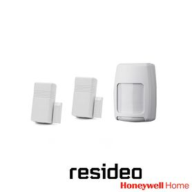 kit de sensores inalámbricos 2mrf1prf 2 magnetos 5816 de plastico color blanco 2 imanes 5899 1 sensor de movimiento 5800pir con