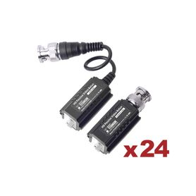 kit de 24 pares de transceptores pasivos turbohd para aplicaciones de video por utp cat 5e6 en alta definición