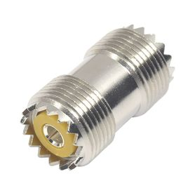 adaptador barril en linea de conector uhf hembra so239 a uhf hembra so239 niquel plata dap