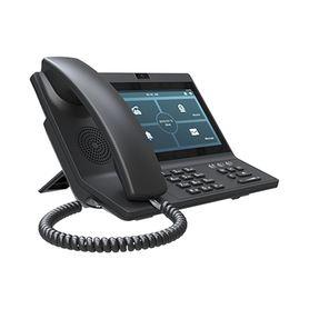 teléfono ip empresarial con estándares europeos 6 lineas sip con pantalla lcd a color puertos gigabit ipv6 opus y conferencia d