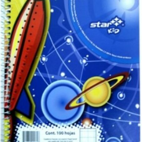 cuad estrella ff 7 mm 100 hojas estrella 0184