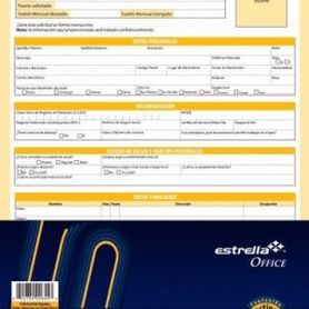 block solicitud de empleo 40 hojas carta estrella 0026