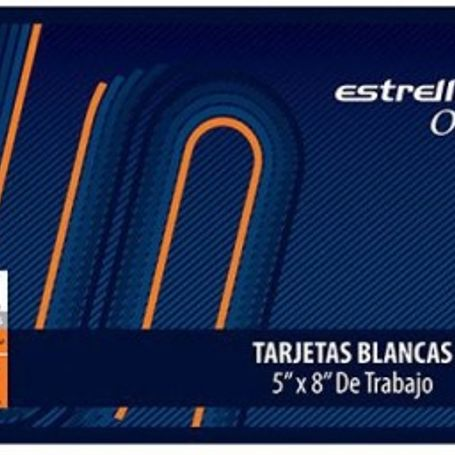 tarjetas 5x8 rayado de trabajo 100 h estrella 00446