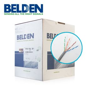cable utp cat6 belden 5663u6 008u1000 forro pvc gris cmr 4 pares 250 mhz calibre 23awg 100 cobre uso interior especial para ins