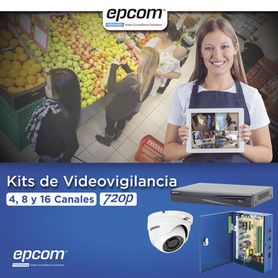 kit turbohd 1080p  dvr 8 canales  8 cámaras eyeball exterior 28 mm  transceptores  conectores  fuente de poder profesional hast