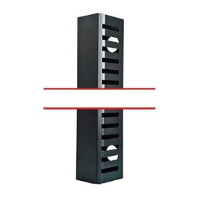 organizador de cable vertical mediano de 21 unidades rack
