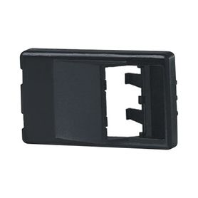 placa de mobiliario modular estándar salida para 2 puertos minicom angulados color negro