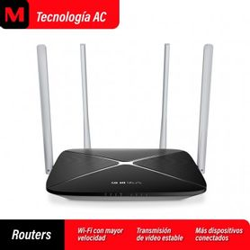 router mercusys inalámbrico  ac1200 1200 mbps